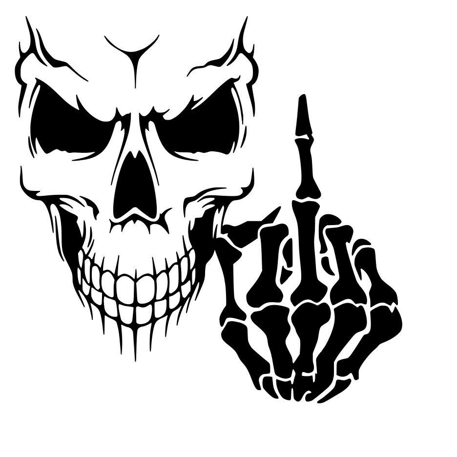 Middle Finger Coloring Page