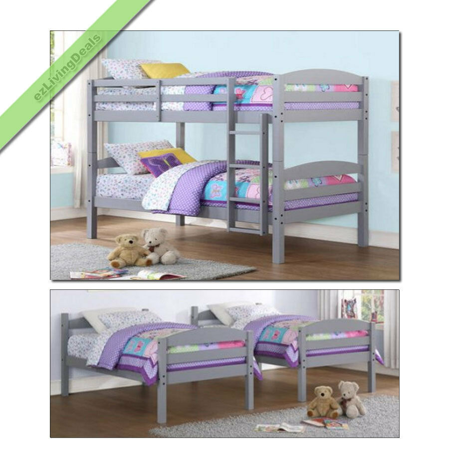 Twin over twin bunk beds for boys girls kids bunkbeds for Toddler bunk beds