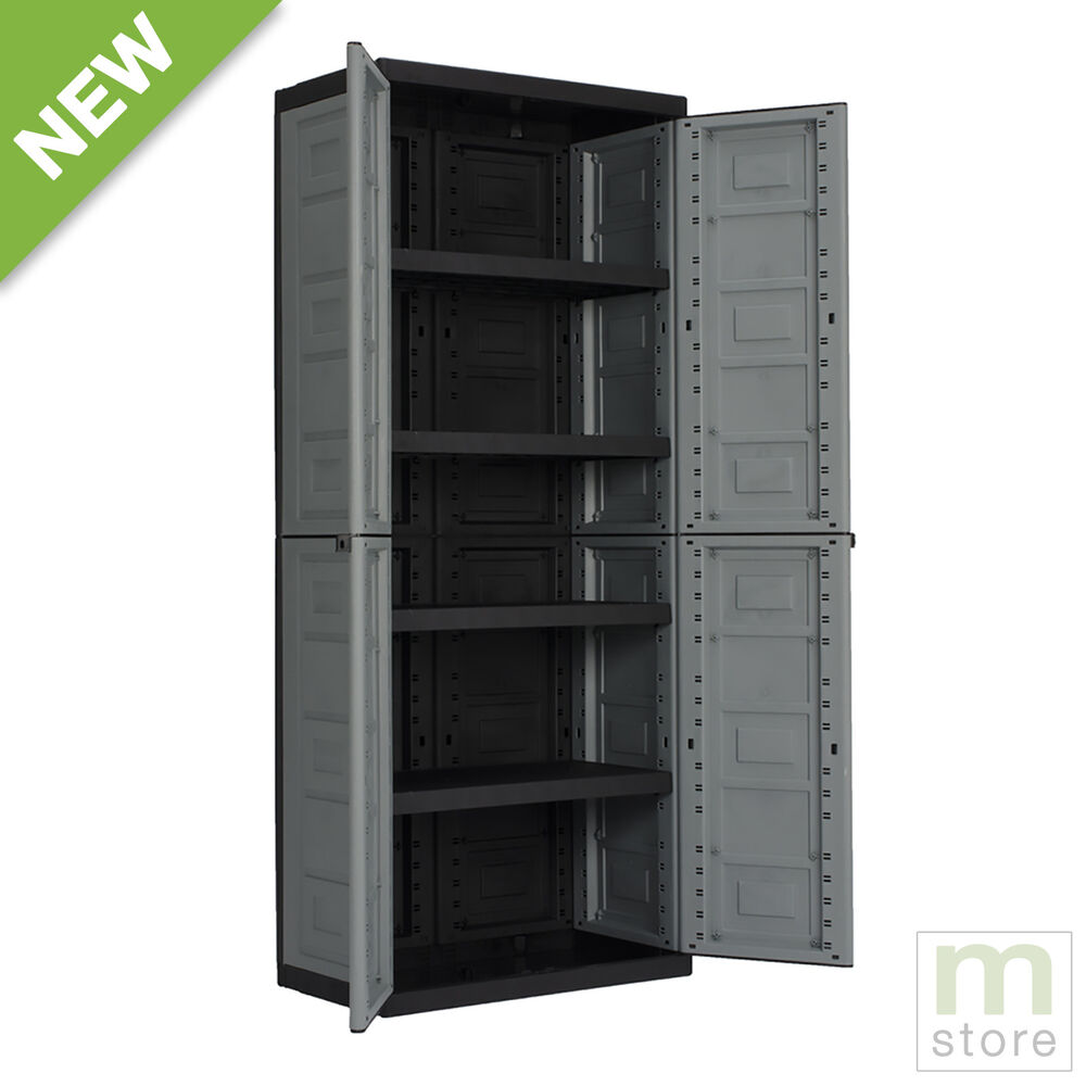Garage cabinet storage adjustable shelves doors