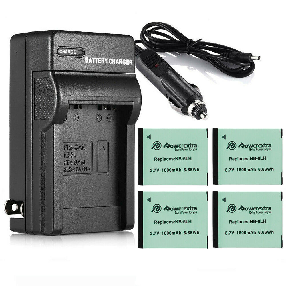 1800mah Nb 6lh Nb 6l Battery Charger For Canon Powershot