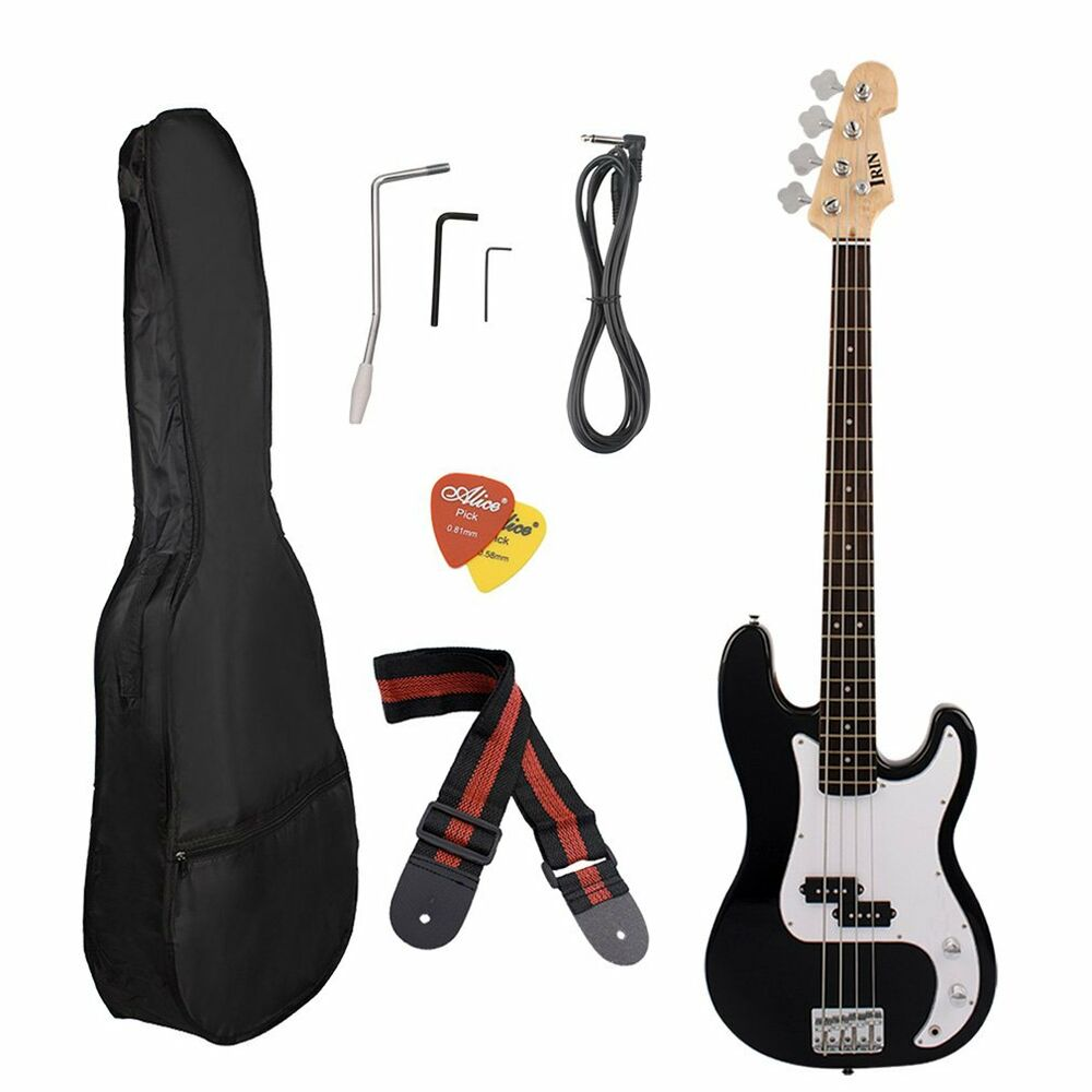 electric bass guitar including strap guitar case amp cord and more us stock e1 ebay. Black Bedroom Furniture Sets. Home Design Ideas