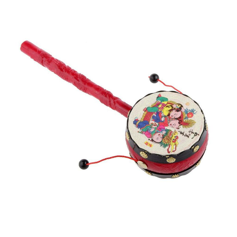 Toys For Chinese New Year : Chinese new year kraft hand drum rattle celebration
