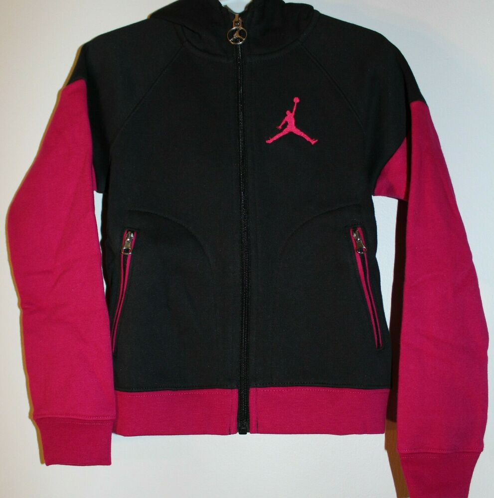 Air Jordan Zip Front Pink Black Hoodie Sweater Limited