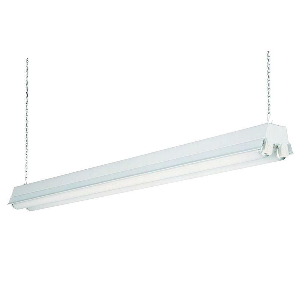 Fluorescent Light Fixture Covers Replacement: Lithonia Lighting 2-Light White T12 Fluorescent Shop