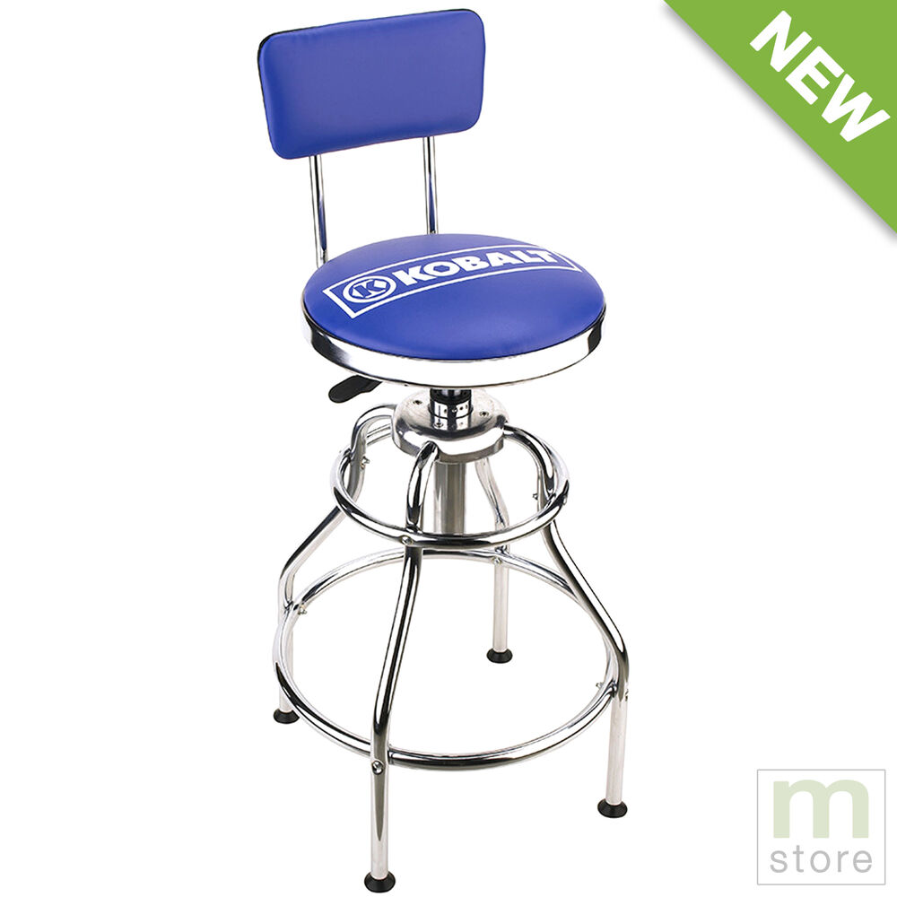 Kobalt Adjustable Hydraulic Stool Mechanic Seat Chair Work Shop Garage Bench Ebay