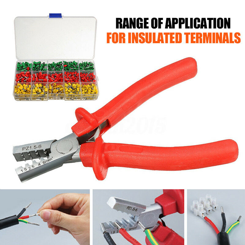 991 crimping tool kit ferrule crimper plier 990x crimp terminal wire connector ebay. Black Bedroom Furniture Sets. Home Design Ideas