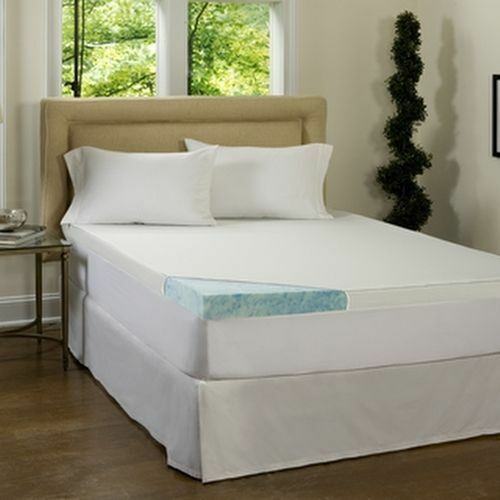 inch gel memory foam mattress topper waterproof cover pad thick ebay