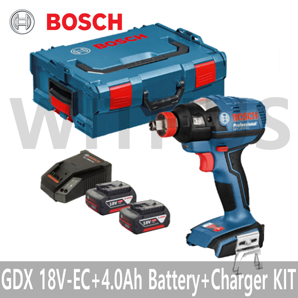 bosch gdx 18v ec professional cordless impact wrench 4 0ah battery x2 l boxx ebay. Black Bedroom Furniture Sets. Home Design Ideas