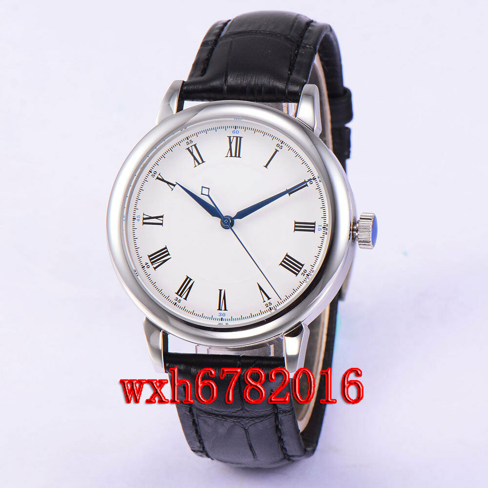 40mm sterile dial sapphire glass roman numerals automatic miyota 821a watch 043 ebay for Watches 40mm