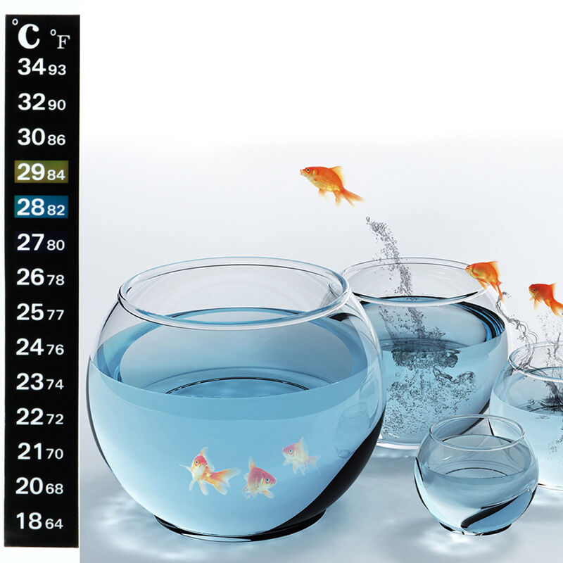 1 5 10pcs digital aquarium fish tank thermometer sticker for Fish tank temperature