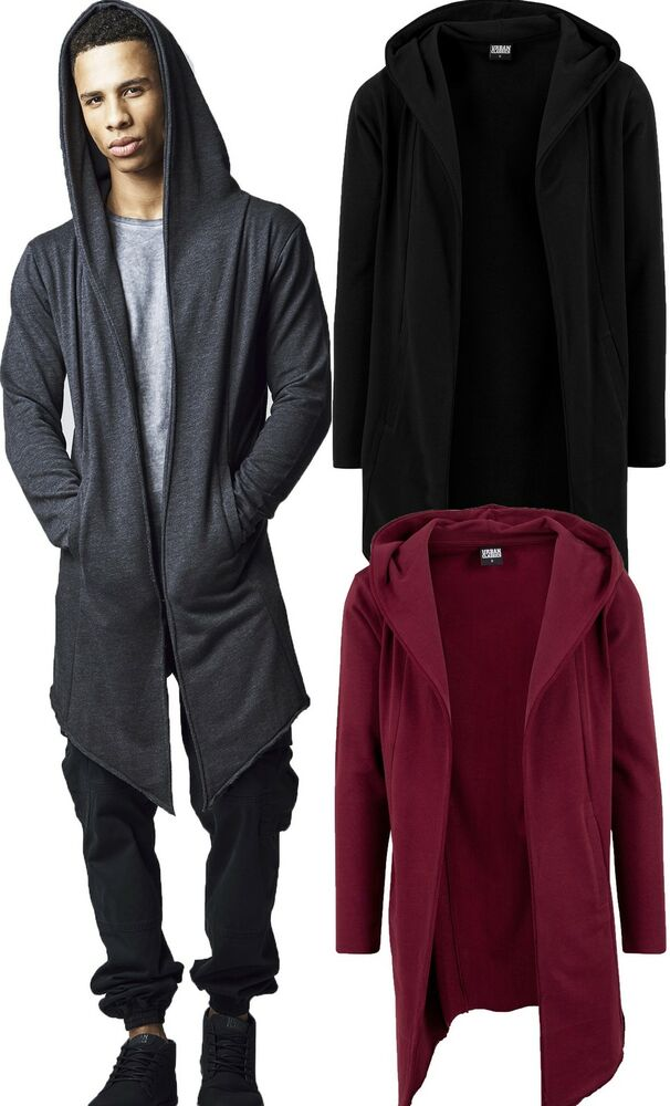 urban classics herren cardigan extra lang long jacke strickjacke umhang oversize ebay. Black Bedroom Furniture Sets. Home Design Ideas