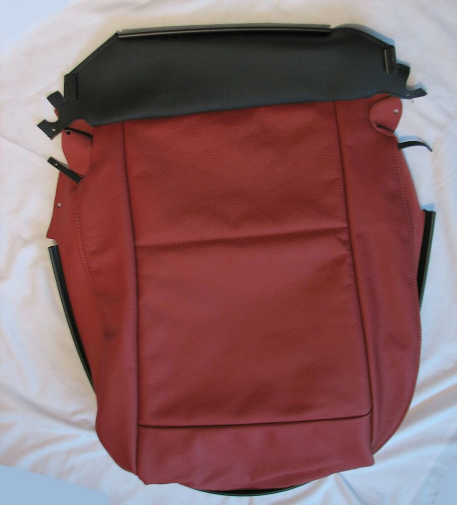 Bmw Z4 M Seats: BMW E89 Z4 Coral Red Leather Seat Base Cover Right Side