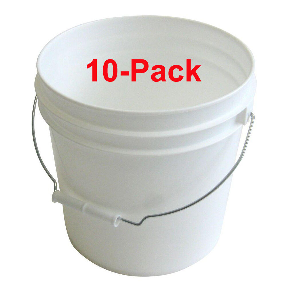 10 Pack 2 Gal Paint Pail Mutri Use Stored Mutri Use