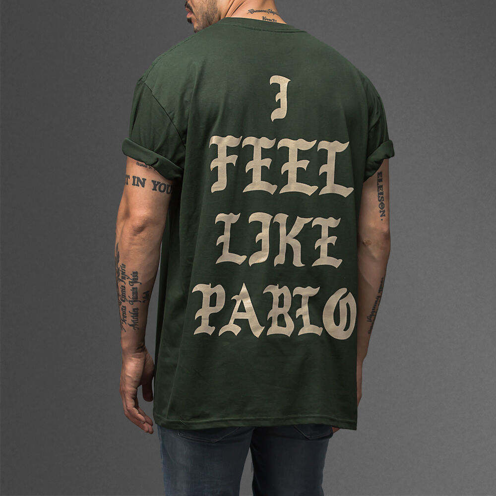 3b1a6671805 Amsterdam I Feel Like Pablo TLOP Kanye TLOP yeezus pop Up Shop Green T-shirt