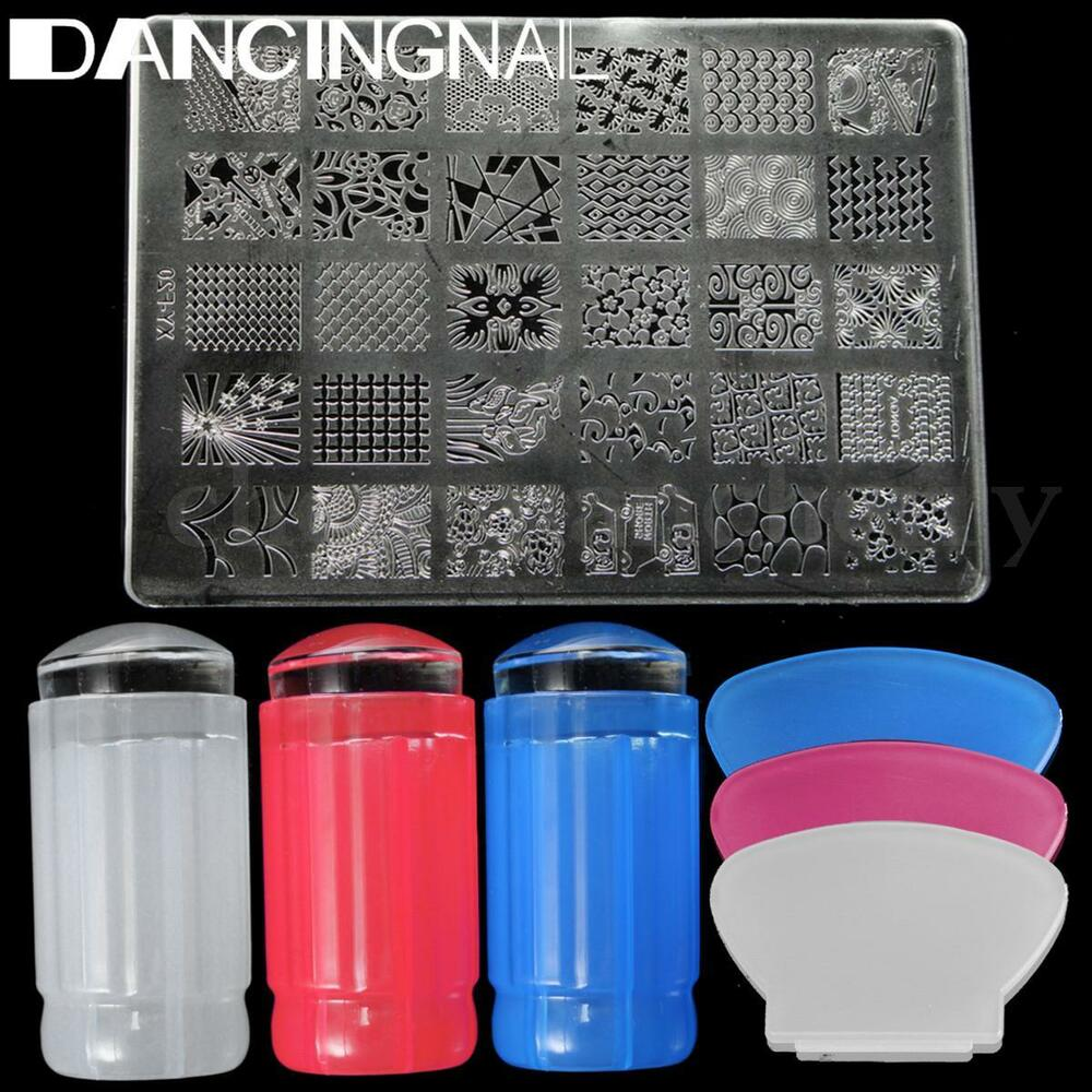 Nail Art Kit With Stamping: USA Nail Art Stamping Stamper Kit With Image Plate