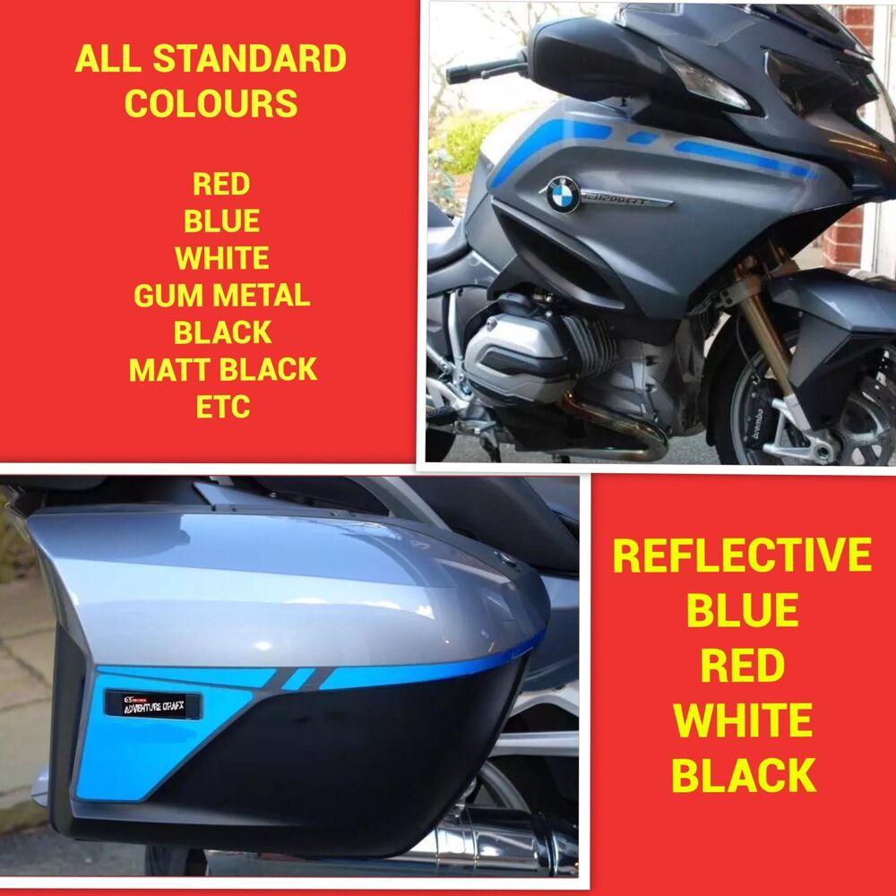 40f921cc2 Details about FAIRING AND PANNIER STRIPE KIT FOR BMW R1200RT WATER COOLED  STICKERS GRAPHICS