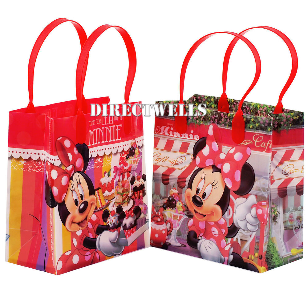 6 pcs minnie mouse authentic licensed small party favor. Black Bedroom Furniture Sets. Home Design Ideas
