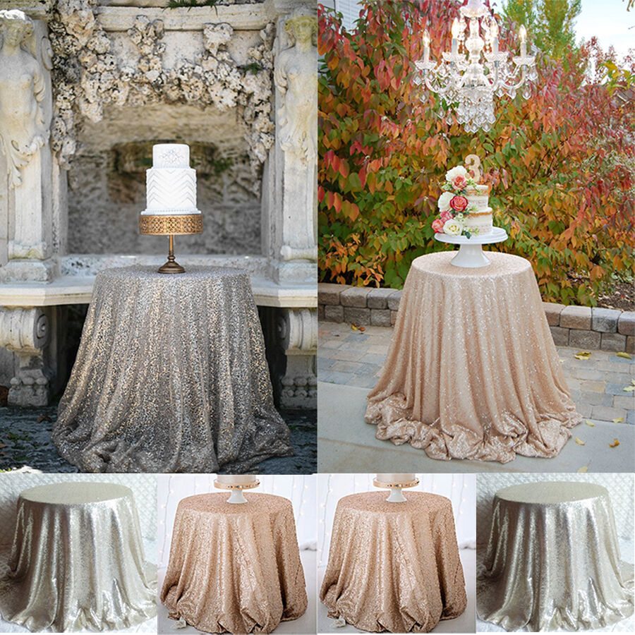 Round Sparkly Bling Sequin Tablecloth For Wedding/Event ...