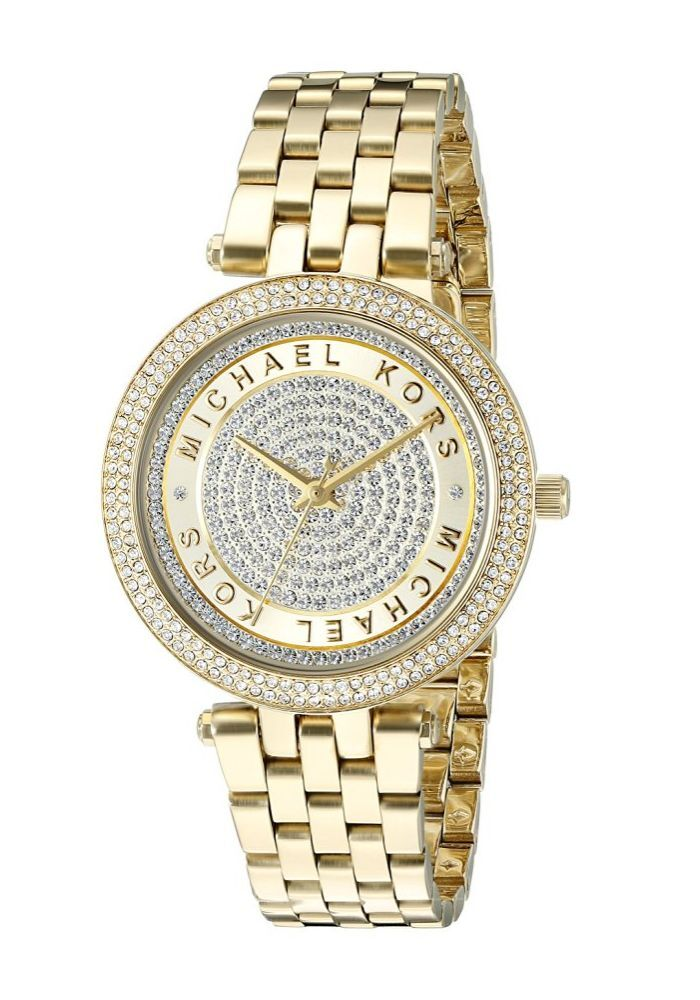 725d40c6f097 Details about New Michael Kors Gold Mini Darci Crystal Pave Dial MK3445  Wrist Watch for Women
