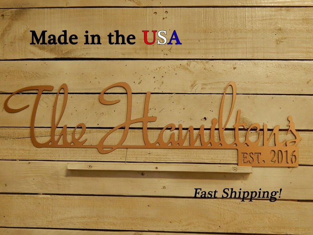 Family Last Name Sign Est Wedding Date Wedding Gift Anniversary