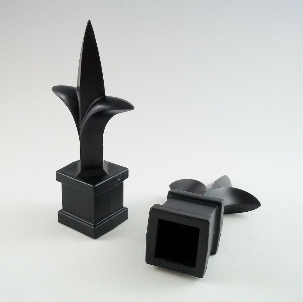 50 Each 3 4 Inch Black Plastic Finial Tops For Wrought