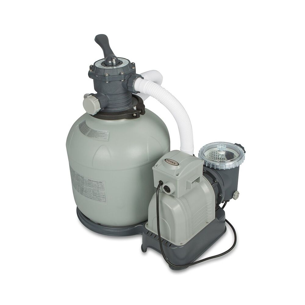 Intex krystal clear sand filter pump for above ground pools 3000 gph system flo ebay - Sandfilterpumpe fur pool ...