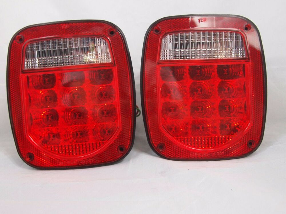 76 06 Wrangler Led Tail Lights Jeep Trailer Ebay