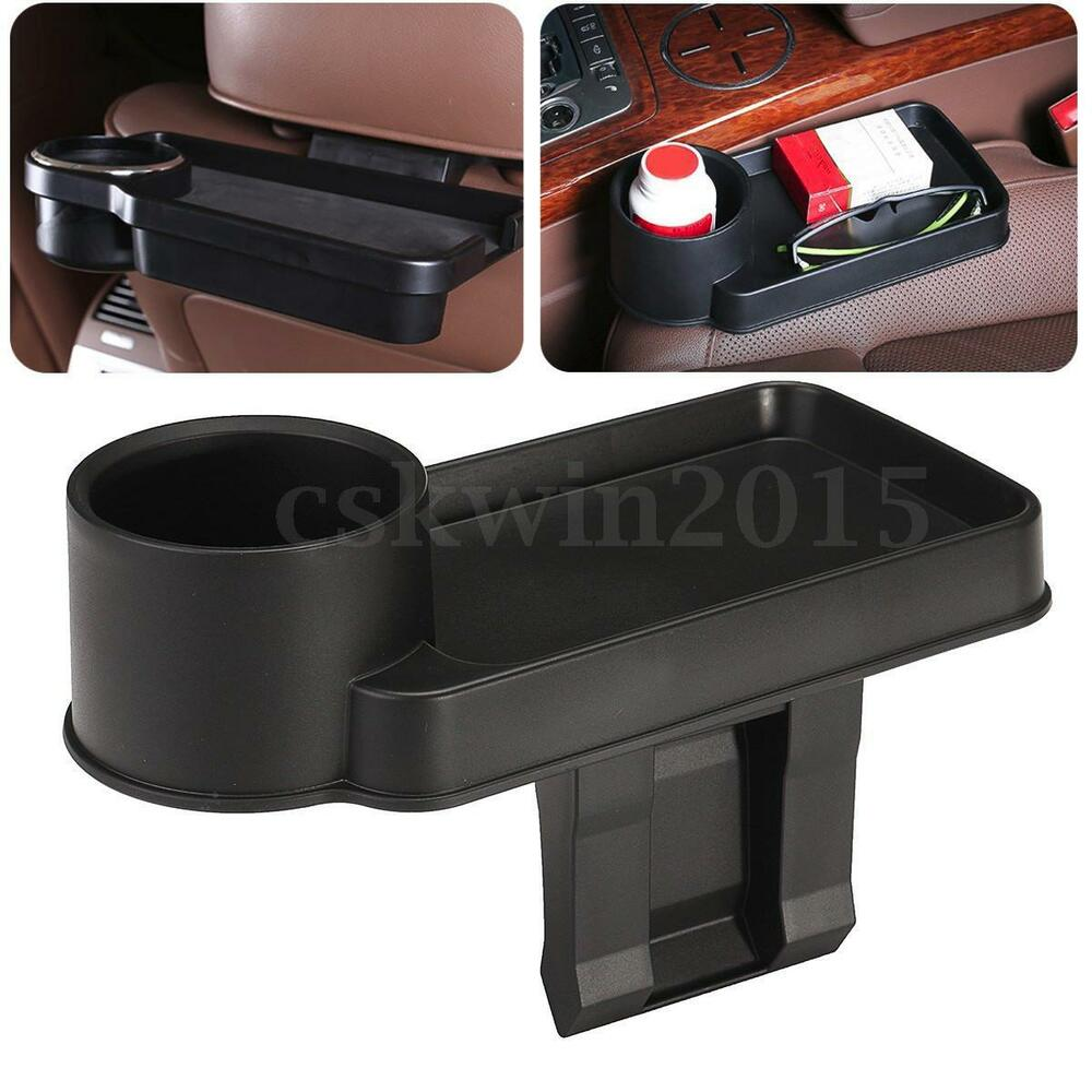 car accessories interior central storage box organizer bracket drink cup holder ebay. Black Bedroom Furniture Sets. Home Design Ideas