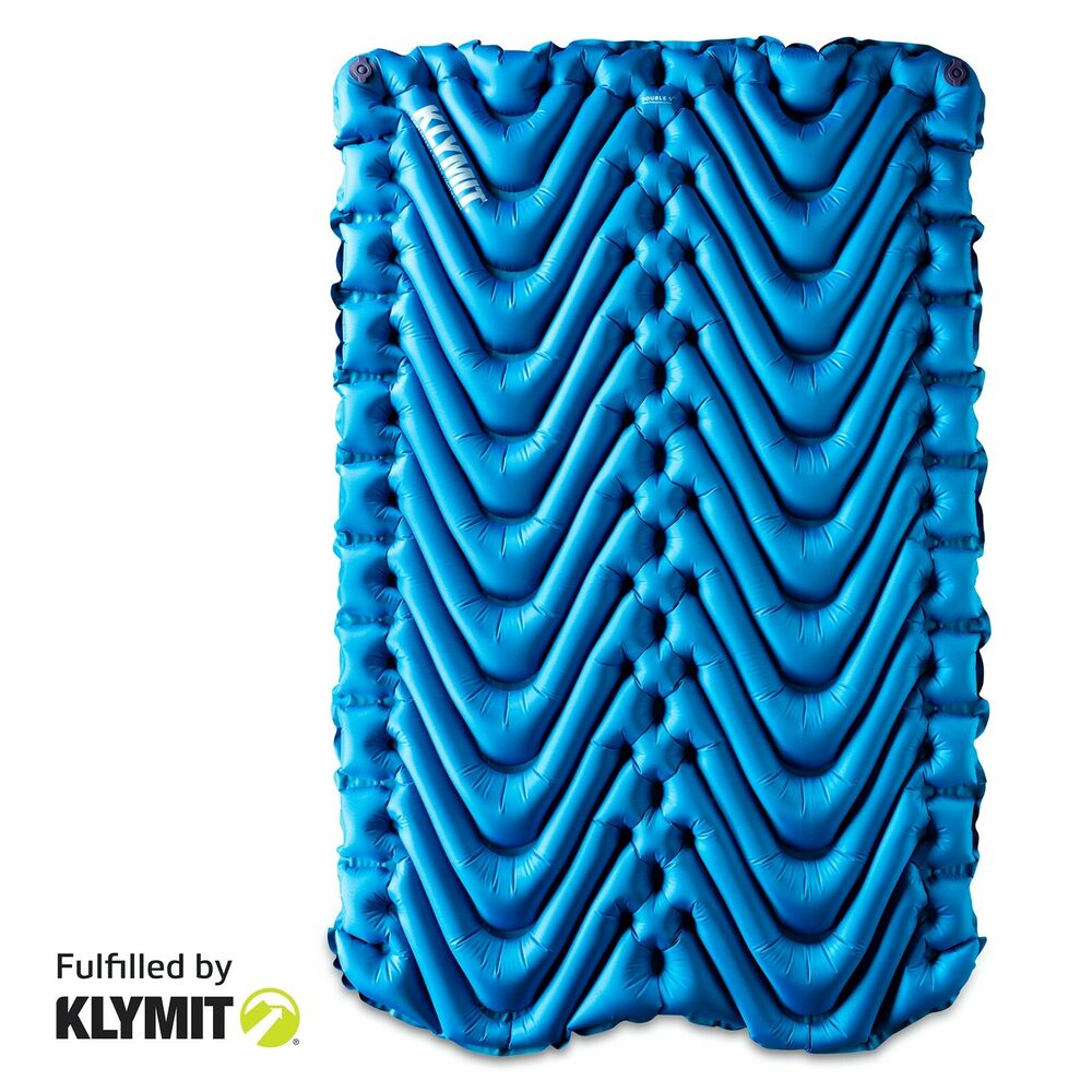 Floor mats to sleep on - Klymit Static Double V Sleeping Pad Blue Two Person Camping Brand New