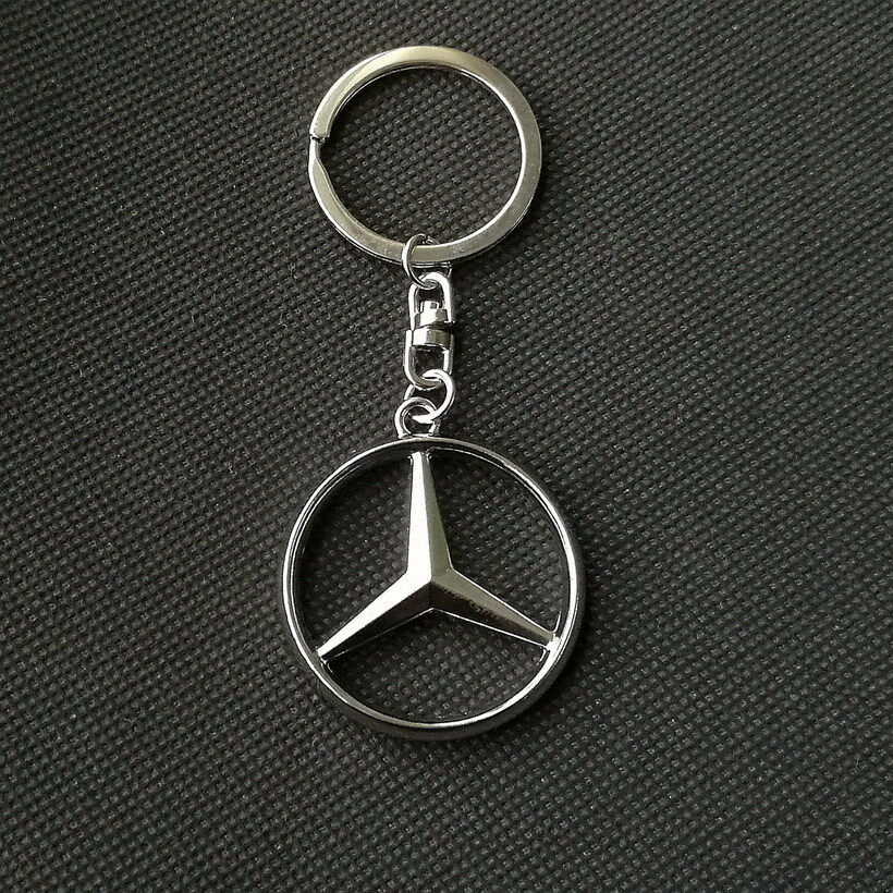 Metal car logo auto part accessories car keychain key ring for Mercedes benz key chain accessories