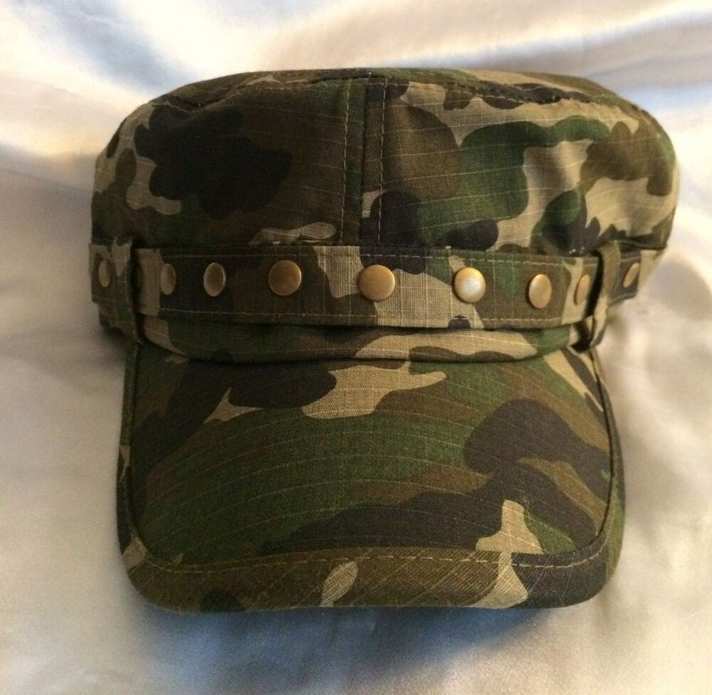Pugs Gear The Shelby Cadet Military Style Cap Green Camouflage Camo Ebay