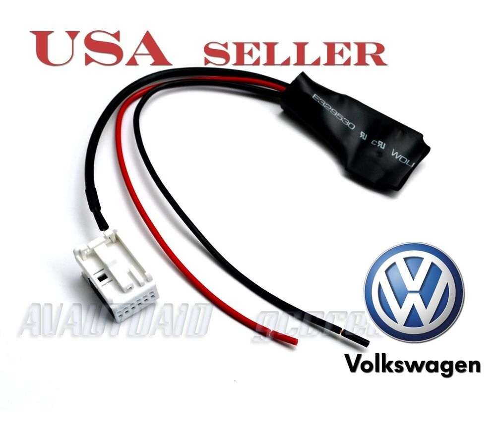 Bluetooth Audio Adapter For VW Radio RCA210 RCD310 RCD510 12Pin Aux Port