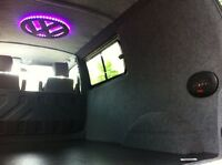 VW Transporter T4 T5 Camper Carpet Lining Caddy Insulation Ply Lining Custom