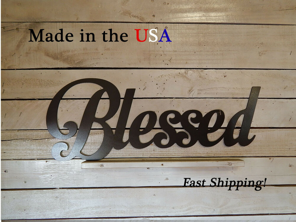 Blessed-Spiritual Decor-Inspirational Art-Home Wall Decor