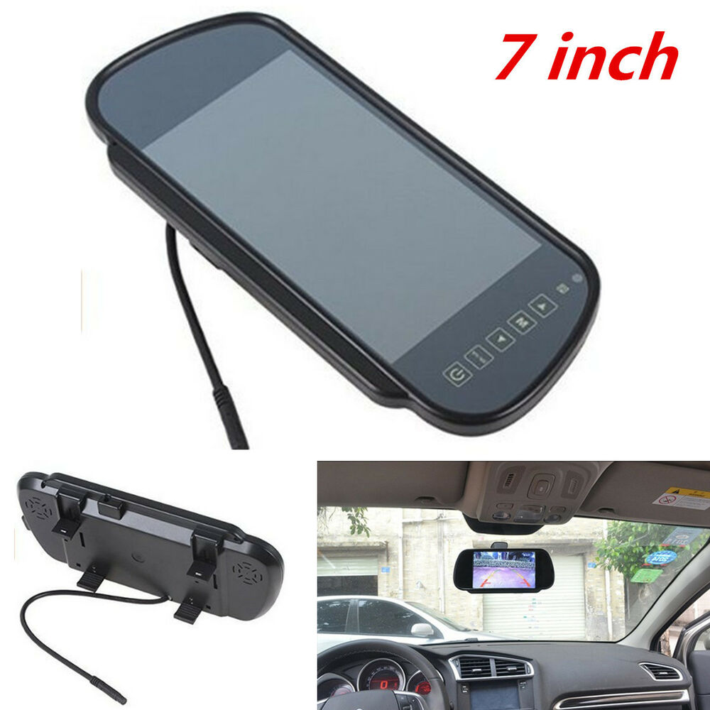 7 lcd tft hd screen car reverse rear view backup mirror. Black Bedroom Furniture Sets. Home Design Ideas