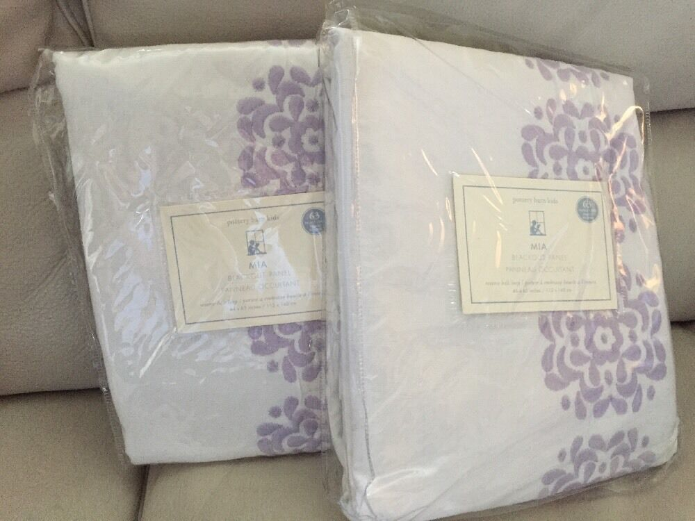 2pc Pottery Barn Kids Mia Blackout Lined Curtains Panels