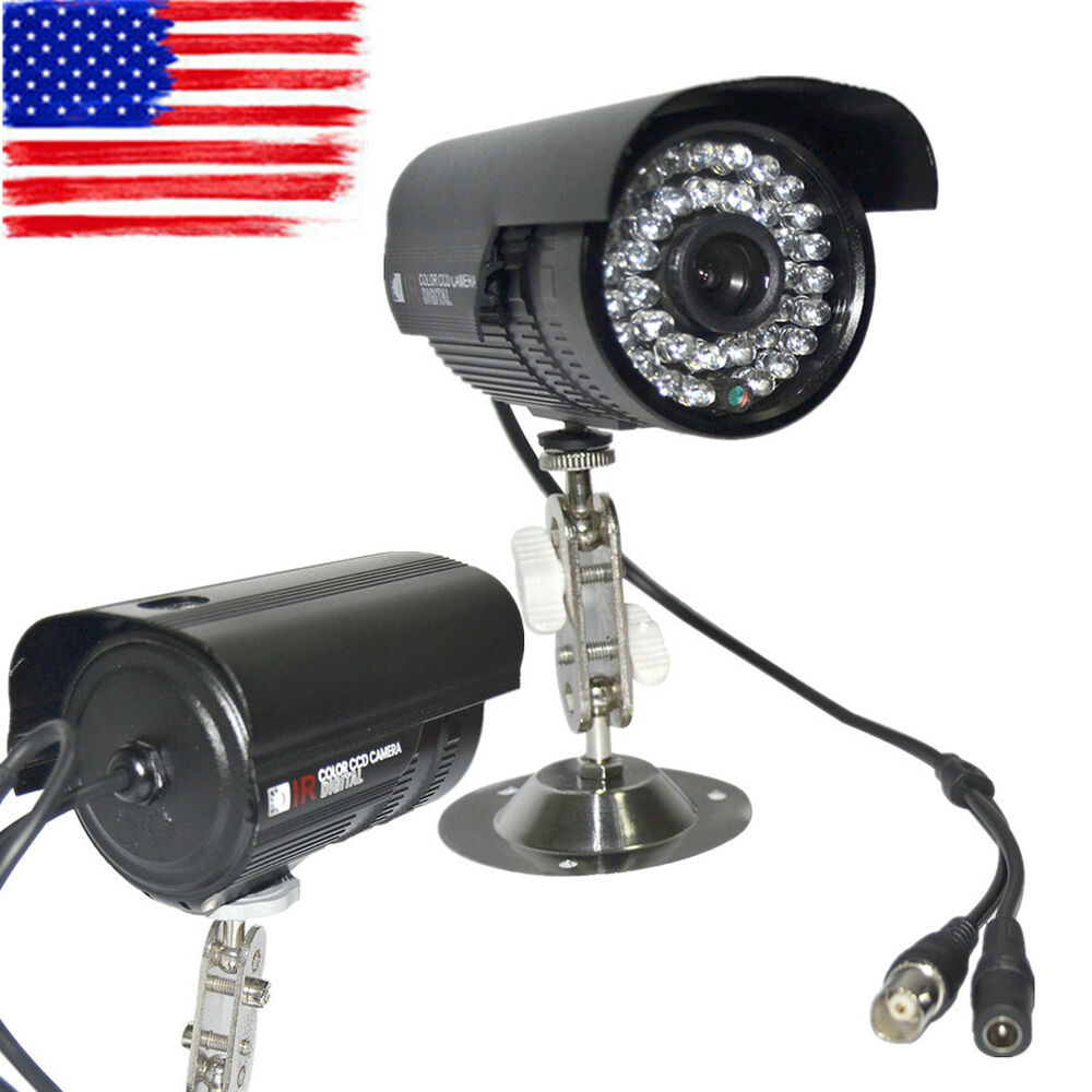 lot1 1200tvl hd color outdoor cctv surveillance security camera 36ir night video ebay. Black Bedroom Furniture Sets. Home Design Ideas