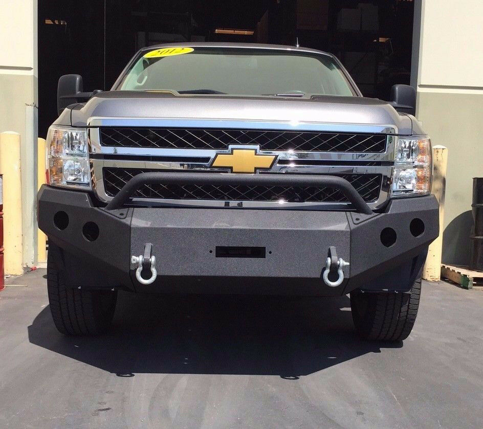 Offroad Front Bumper Steel Winch Ready 2011 2014 Chevy
