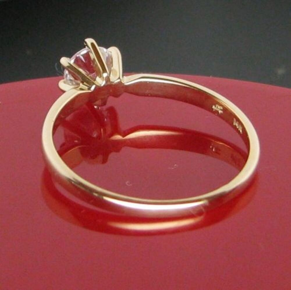 050 cts round brilliant solitaire engagement ring real for Real wedding ring