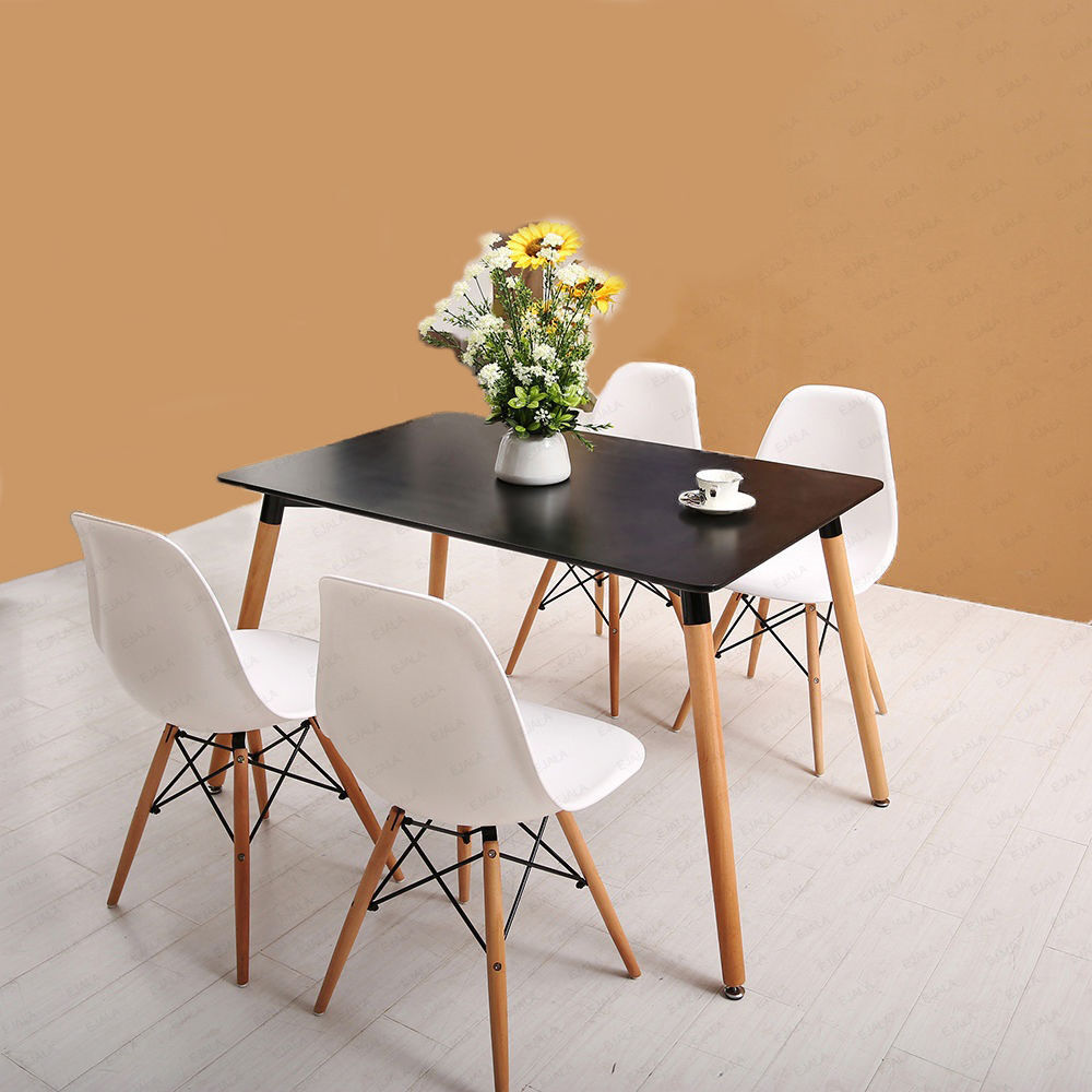 dining table and 4 chairs retro dsw eiffel ebay. Black Bedroom Furniture Sets. Home Design Ideas