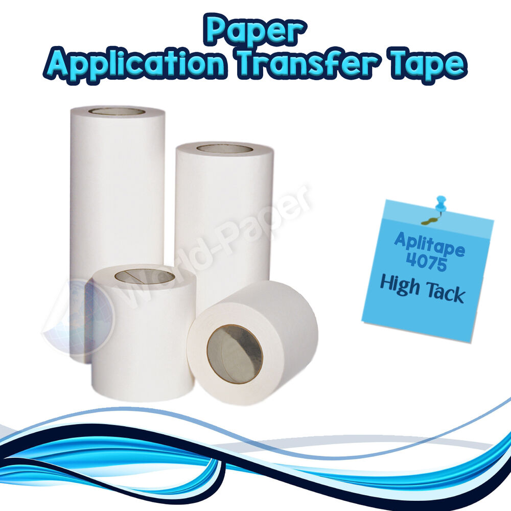 Application Transfer Paper Tape Vinyl Sign Adhesive Made