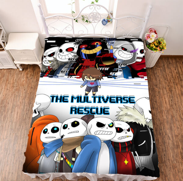 Sheet Micro Fiber Blanket Game Undertale Sans Print Bed Otaku Sleep Gift #782
