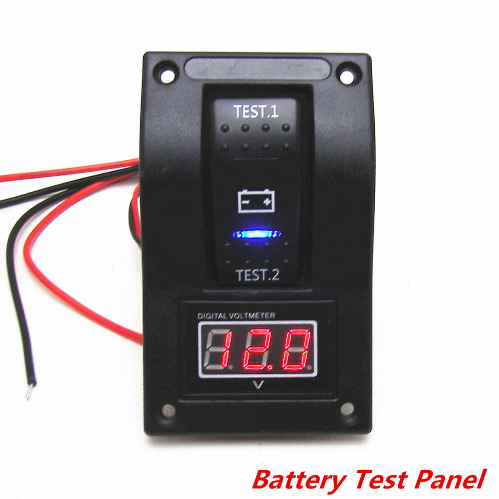 12v Rv Battery Monitor : V rv car truck marine boat voltmeter led dual battery