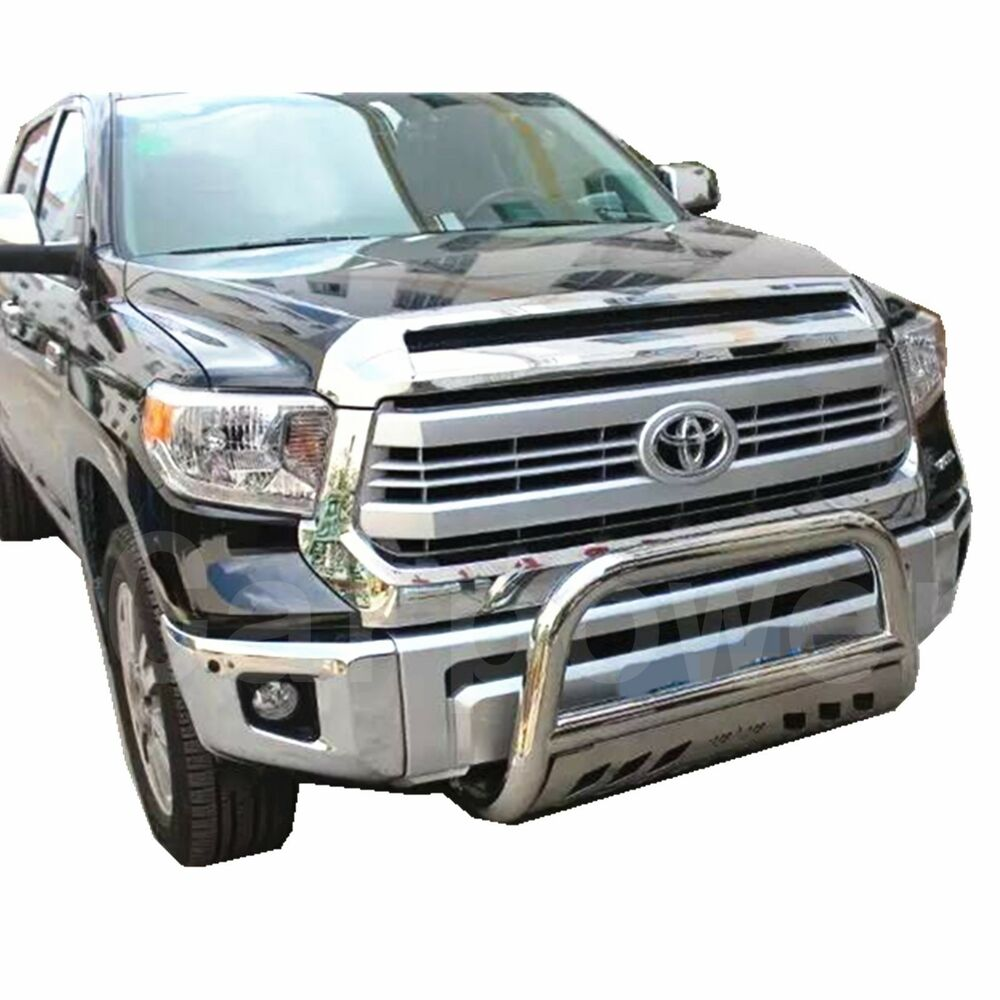 2007 2016 Toyota Tundra 3 Stainless Steel Bull Bar Chrome