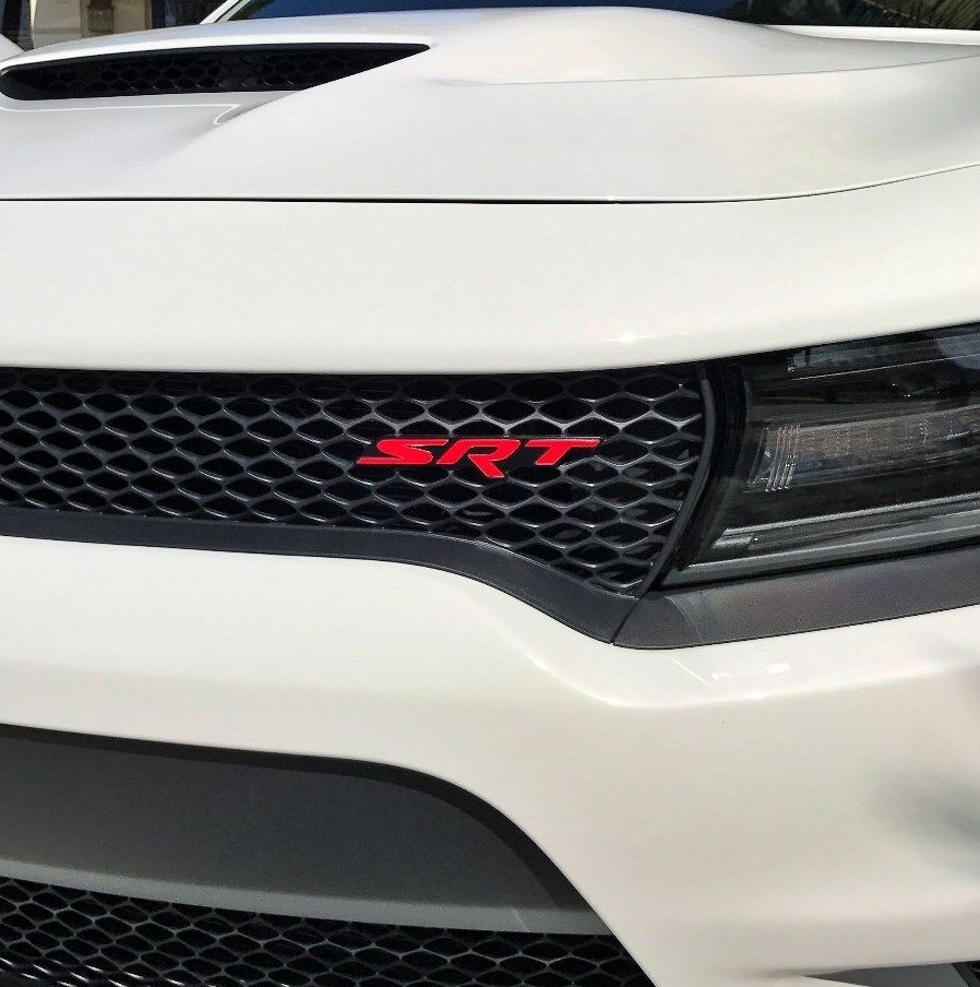 2017 Jeep Grand Cherokee Accessories >> Dodge Charger Hellcat SRT Grill Emblem Overlay Decal 2015 2016 2017 | eBay