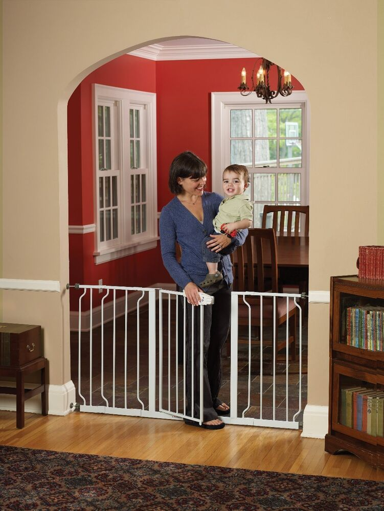 Walk Thru Baby Gate Extra Wide Large Size Pet Animal Child