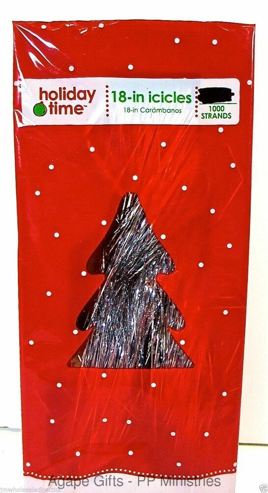 New pk holiday time christmas tree tinsel icicles