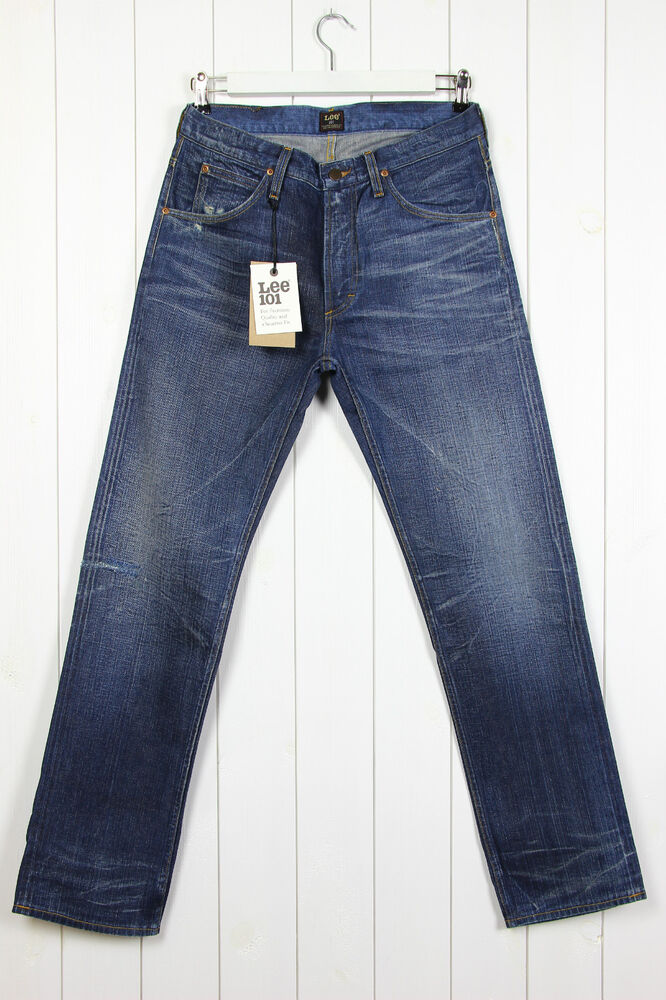 bb7bd7bb NEW LEE 101Z THE ORIGINAL ZIP FLY JEANS SELVAGE STRAIGHT LEG W33 L32 33x32  | eBay