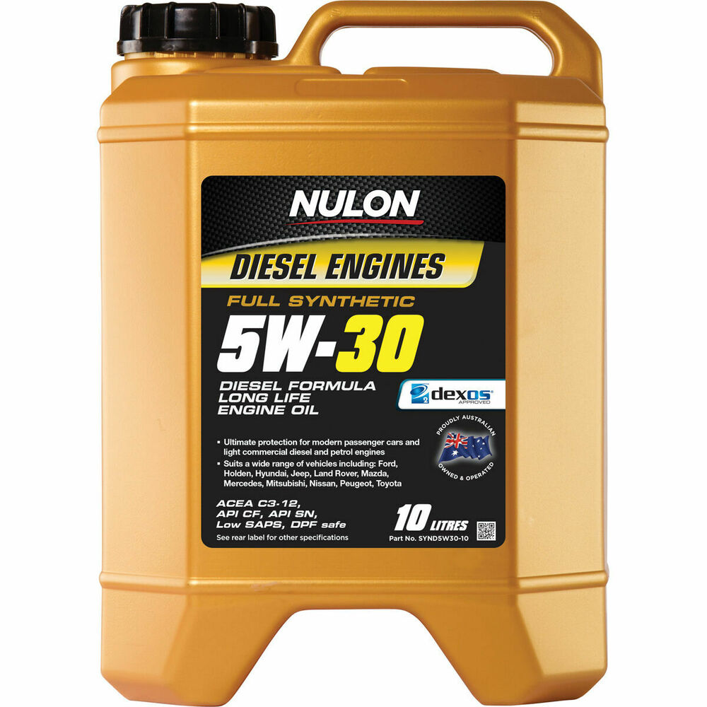 Nulon full synthetic long life diesel engine oil 5w 30 for Synthetic motor oil for diesel engines