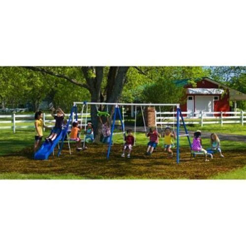 Outside Play Ground Toys : Playground metal swing set swingset outdoor play slide